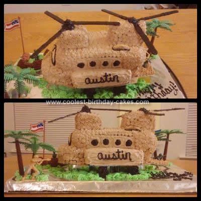 Homemade Chinook Helicopter Birthday Cake