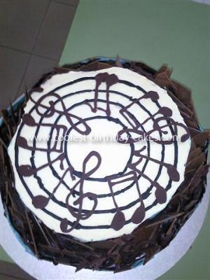 Homemade Chocolate Music Note Cake