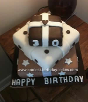Homemade Chocolate Present Birthday Cake