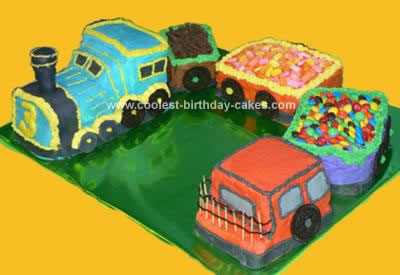 Cool Cute Homemade Choo Choo Train Birthday Cake Personalised Birthday Cards Veneteletsinfo