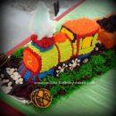 Homemade Choo Choo Train Birthday Cake