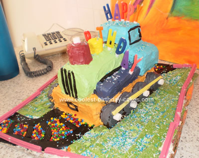 Homemade Choo Choo Train Cake