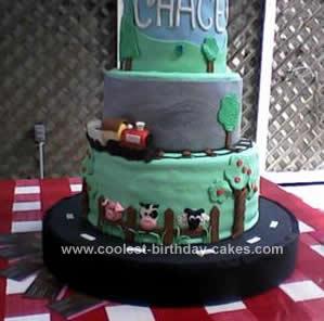 Homemade Choo Choo Train Tiered Cake Design