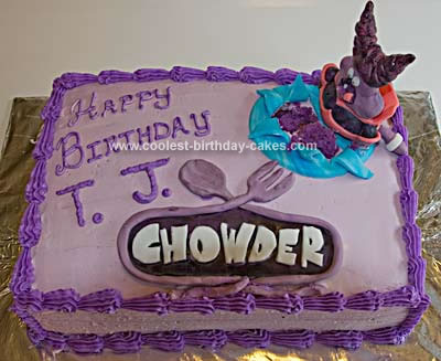 Homemade Chowder Birthday Cake