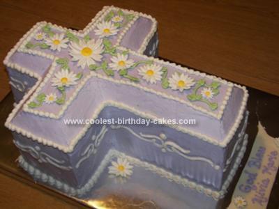 Homemade Christening Cake