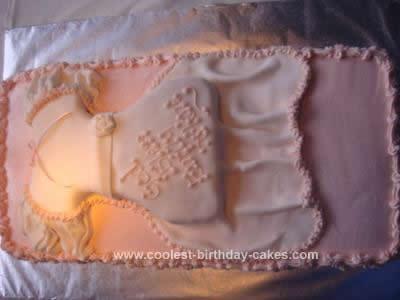 Homemade Christening Gown Cake