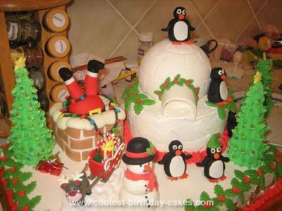 Homemade Christmas Birthday Cake