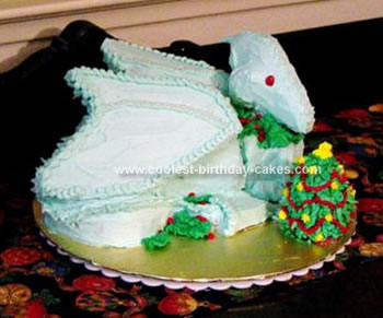 Homemade Christmas Dragon Cake