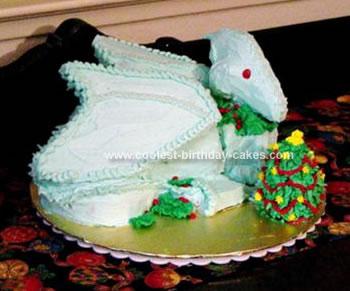 Homemade Christmas Dragon Cake