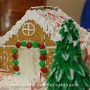 Homemade Christmas Gingerbread House Cake
