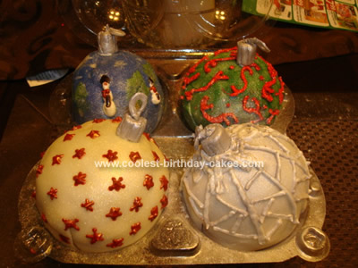 Homemade Christmas Ornaments Cake