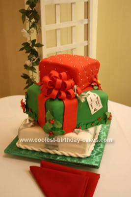 Homemade Christmas Presents Cake
