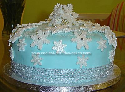 Pleasing Coolest Christmas Snowflake Cake Funny Birthday Cards Online Alyptdamsfinfo