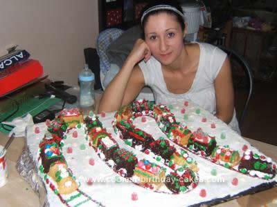 Coolest Christmas Train Cake Idea