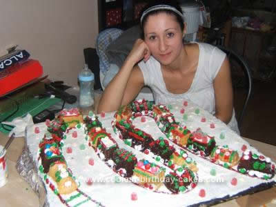 Homemade Christmas Train Cake idea