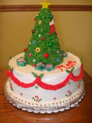 Christmas Birthday Cake.Cool Homemade Christmas Tree Topper Cake