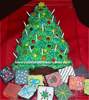 Cool Homemade Christmas Tree Cake And Brownie Presents