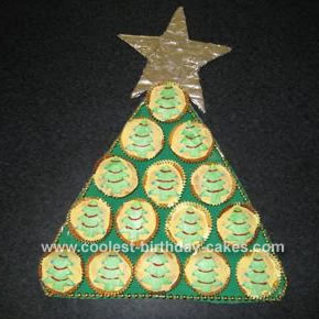 Homemade Christmas Tree Cake