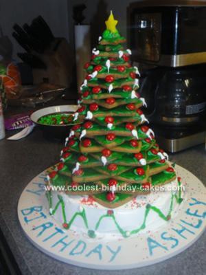 Homemade Christmastime Birthday Cake