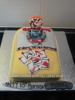 Homemade Chucky Birthday Cake Idea