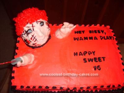 Sensational Coolest Homemade Chucky Cakes Funny Birthday Cards Online Sheoxdamsfinfo