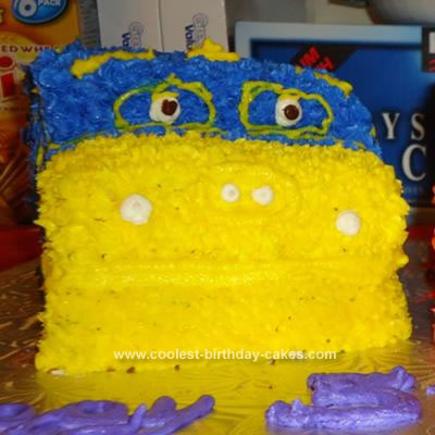 Homemade Chuggington Brewster Cake