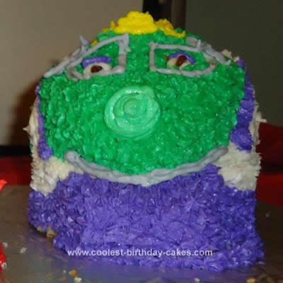 Homemade Chuggington Koko Cake