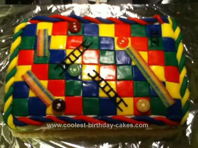 Homemade Chutes and Ladders Cake