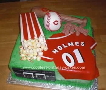 Astounding Coolest Cincinnati Reds Birthday Cake Personalised Birthday Cards Paralily Jamesorg