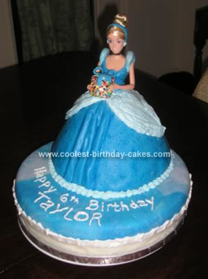 Tremendous Coolest Homemade 2 Tiered Cinderella Doll Birthday Cake Funny Birthday Cards Online Overcheapnameinfo