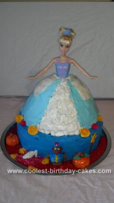 Homemade Cinderella Birthday Cake