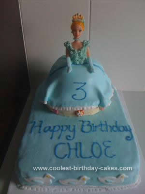 Homemade Cinderella Birthday Cake Design