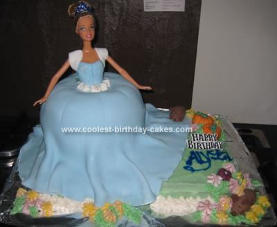 Homemade Cinderella In The Garden Cake
