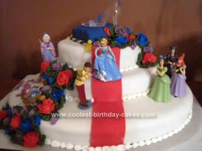 Homemade Cinderella Cake Design