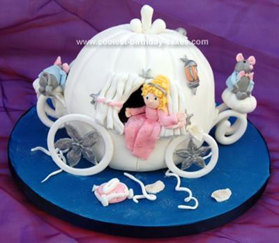 Homemade Cinderella Carriage Cake