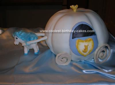 Homemade Cinderella Carriage Cake