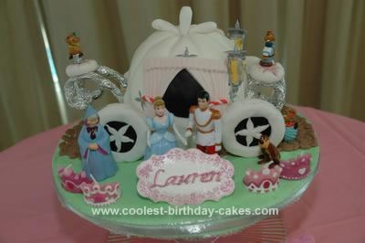 Homemade Cinderella Carriage Cake Design