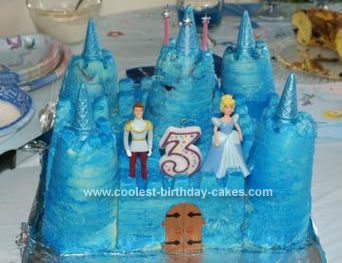 Magnificent Cool Homemade Cinderella Castle Birthday Cake Funny Birthday Cards Online Fluifree Goldxyz