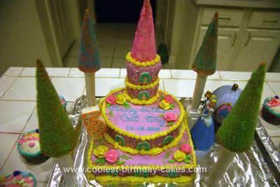 Incredible Coolest Cinderella Castle Birthday Cake Design Funny Birthday Cards Online Fluifree Goldxyz