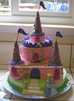Swell Coolest Cinderella Castle Cake Funny Birthday Cards Online Fluifree Goldxyz