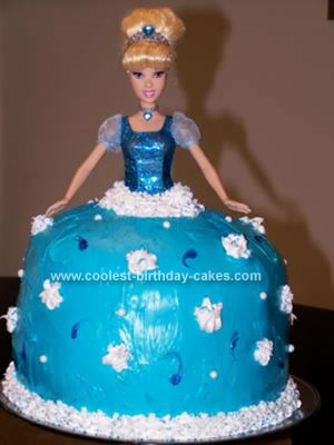 Homemade Cinderella Doll Birthday Cake