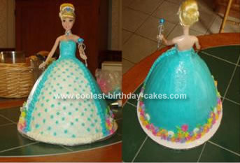 Homemade Cinderella Doll Cake