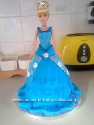 Homemade Cinderlla Birthday Cake Idea