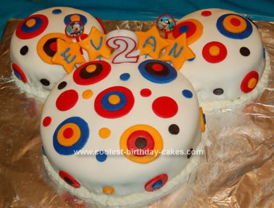 Remarkable Coolest Circles Mickey Mouse Birthday Cake Funny Birthday Cards Online Unhofree Goldxyz