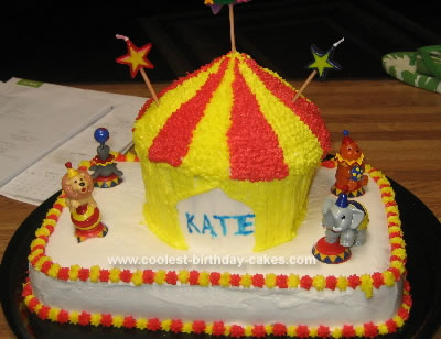 Homemade Circus Tent Cake