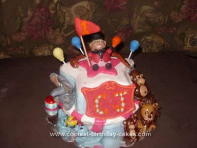 Homemade Circus Tent Cake Idea