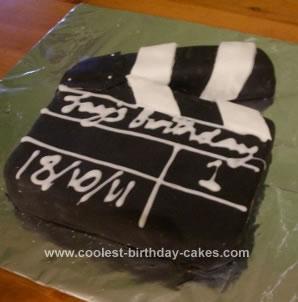 Homemade Clapperboard Cake
