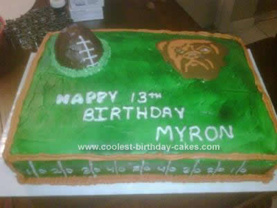 Homemade Cleveland Browns Football Birthday Cake
