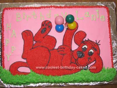 Homemade Clifford Birthday Cake Design