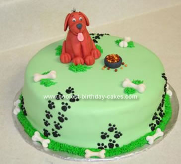 Super Cool Homemade Clifford The Big Red Dog Cake Personalised Birthday Cards Petedlily Jamesorg